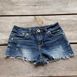 Justice Cutoff Cut Off Jean Shorts Denim Blue 12S